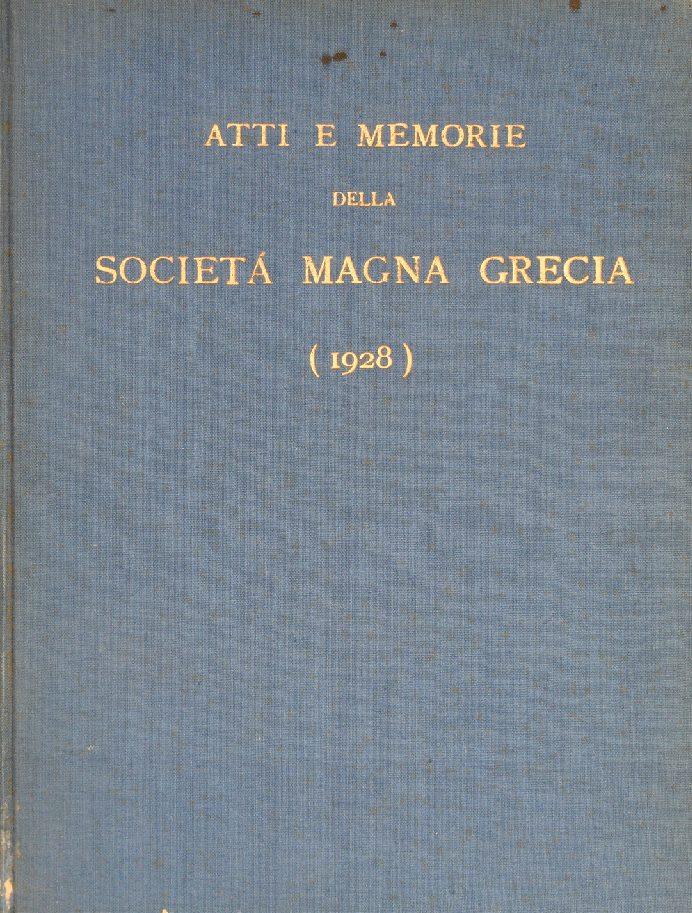 Atti e Memorie della Società Magna Grecia